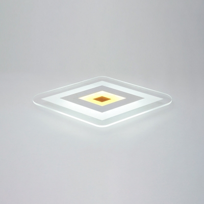 Ultrathin Ceiling Light Modernism Concise Eye Protection Acrylic LED Flush Mount in White for Bedroom