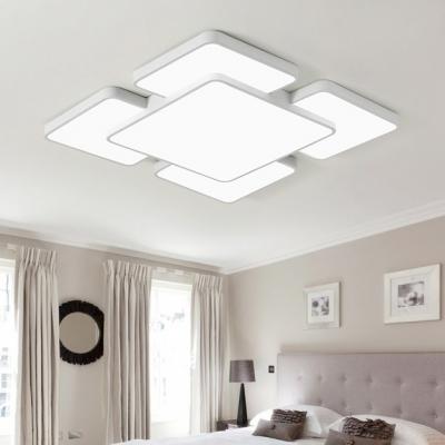 White Squared Led Ceiling Light Minimalist Modern Eye Protection