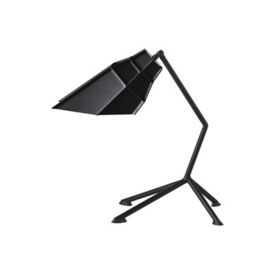 Geometric Shade Standing Desk Light Modernism Metal 1 Light Table Lamp in Black for Bedside
