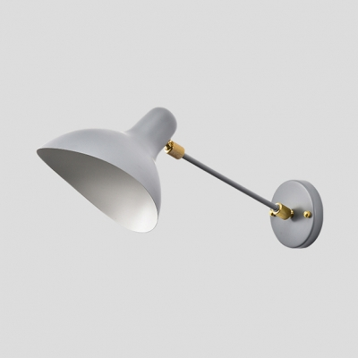 Gray Duckbill Sconce Light Modernism Rotatable Metallic 1 Bulb Wall Mount Fixture for Office Studio