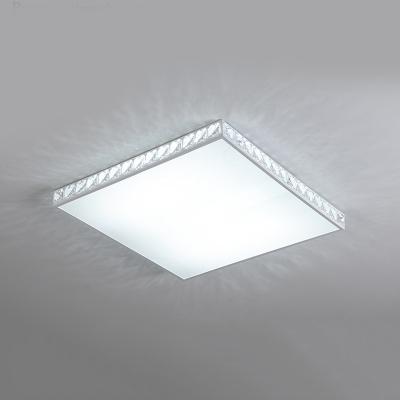 Ultra Thin Square Flush Light Luxury Modern Crystal LED Indoor Lighting Fixture for Restaurant