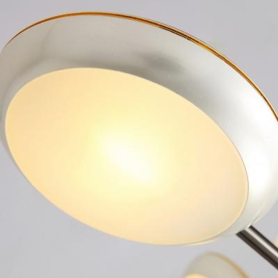 10 Lights Sputnik Chandelier with Saucer Metal Shade Modern Chic Hanging Lamp in Gold