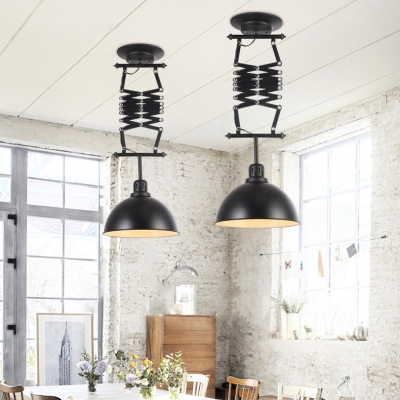 Industrial Black Adustable Scissor Ceiling Light with Bowl Shape