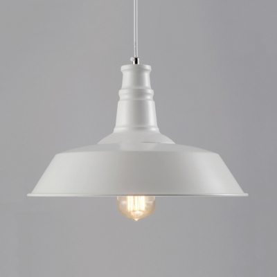 White Finish Warehouse Shade 1 Light Pendant Indoor Pendants