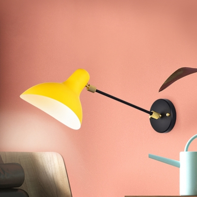 Single Head Duckbill Shade Wall Light Contemporary Metal Decorative Wall Mount Fixture in Yellow