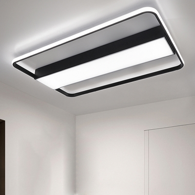 Black Border Ceiling Flush Modern Design Ambient Led Fixture