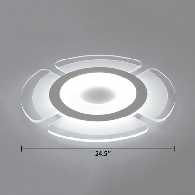 Acrylic Ultra Thin Indoor Lighting Fixture Modernism LED Ceiling Fixture in Warm/White for Living Room