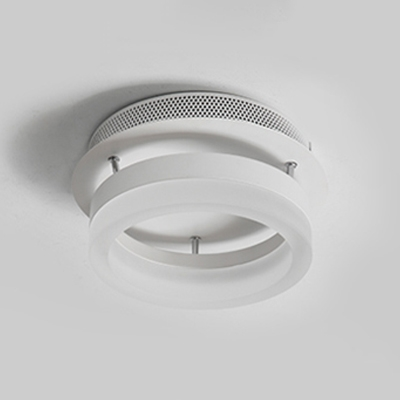 Contemporary Circle Ceiling Light Acrylic Shade LED Semi Flush Mount in Warm/White for Foyer