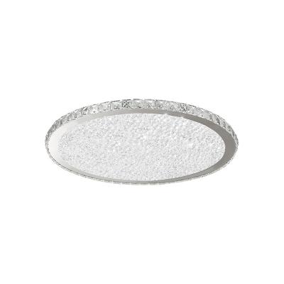 Crystal Round LED Flush Mount Luxury Modern Flush Ceiling Light in Warm/White for Restaurant
