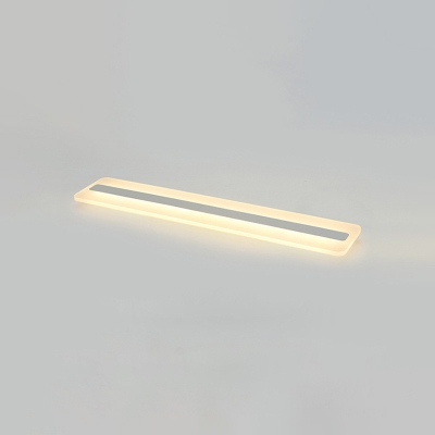 Minimalist Linear Flush Mount Lighting Acrylic LED Ceiling Fixture in Warm/White for Corridor