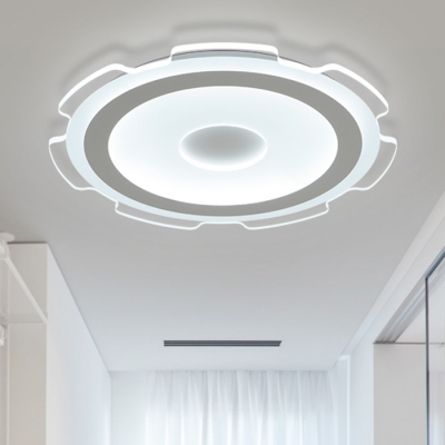 Gear Led Flush Mount With Acrylic Shade