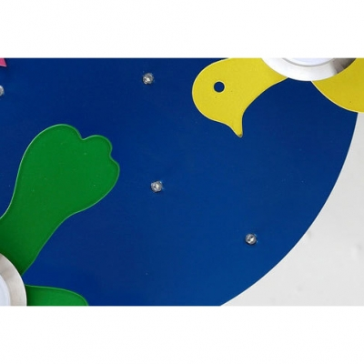 Multi Color Bird Flush Mount Contemporary Acrylic 5 Lights Lighting Fixture for Kindergarten