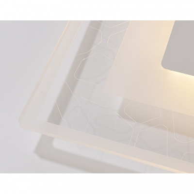 Super Thin Rectangle Ceiling Lamp Modern Chic Acrylic Surface Mount LED Light in White for Living Room