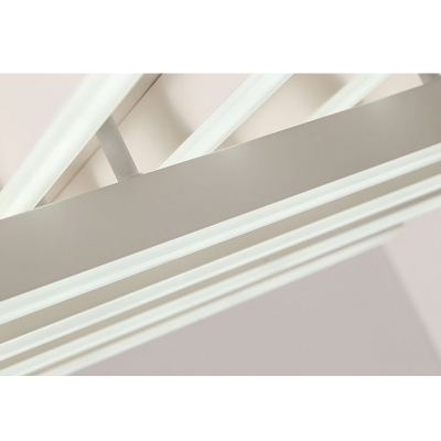 Metal Crossed Lines LED Ceiling Light Simplicity 8 Lights Decorative Flush Light in Warm/White