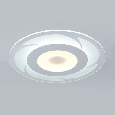 Nordic Style Disc Surface Mount LED Light with Windmill Design Acrylic Flush Light in Warm/White