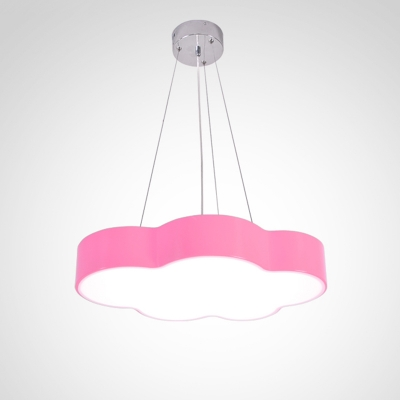 Orange/Pink Cloud Suspended Light Acrylic Decorative LED Hanging Lamp for Amusement Park