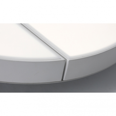 Round Ceiling Fixture Minimalist Modern Acrylic LED Flush Mount Light in White for Coffee Shop