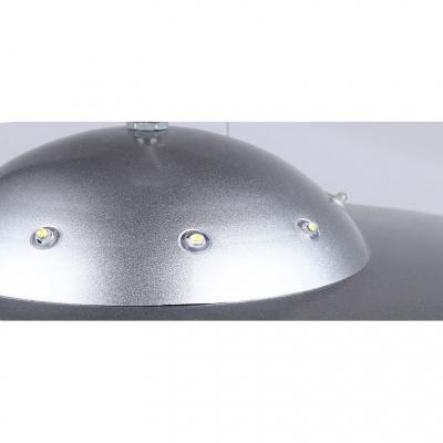 UFO Shape Chandelier Lamp Amusement Park Metallic 6 Lights Suspension Light in Silver