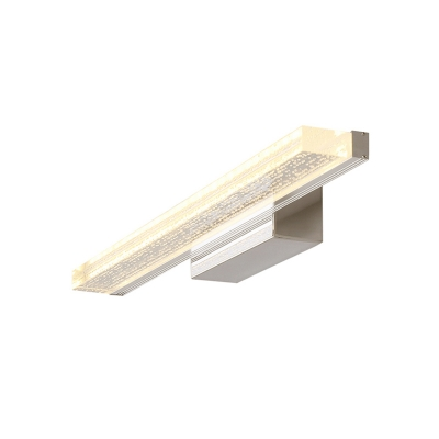 Acrylic Vanity Light with Linear Shape Modern Chic LED Wall Lamp in Stainless for Bathroom