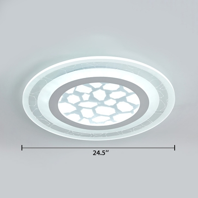Acrylic Super-thin LED Flushmount Modern Chic Indoor Lighting Fixture in White with Disc Shade