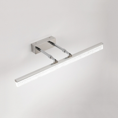 Extendable Bar LED Vanity Light Simplicity Modern Stainless Makeup Lighting for Mirror Bathroom