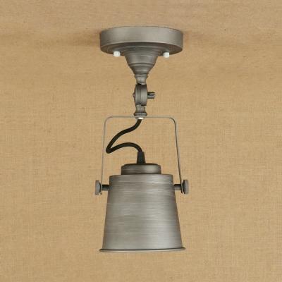 Rotatable 1 Head Bell Semi Flush Mount Colorful Modern Metal Spotlight for Children Bedroom Hallway