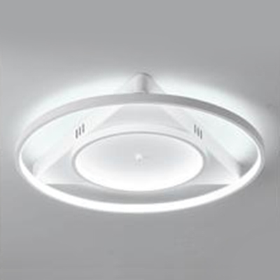Triangle Canopy Flush Mount Light With Double Ring Minimalist Silicon Gel Led Ceiling Light In White Beautifulhalo Com