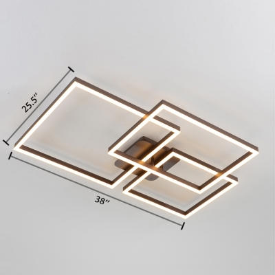 Ultra Thin Ceiling Lamp Modern Metal Eye Protection LED Lighting Fixture in Warm/White/Neutral