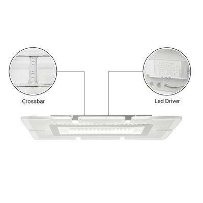 Rectangular LED Flush Light Minimalist Acrylic Ultrathin Ceiling Lamp in Warm/White for Dining Room