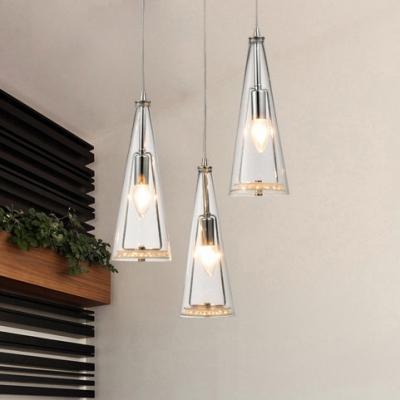 3 Lights Conical Pendant Lighting Modern Design Clear Gl Hanging