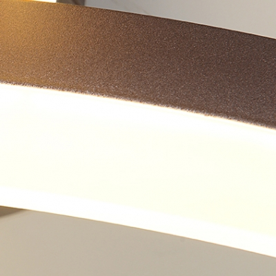 Dual Ring LED Flush Ceiling Light Modern Fashion Acrylic Shade Flush Mount in Brown