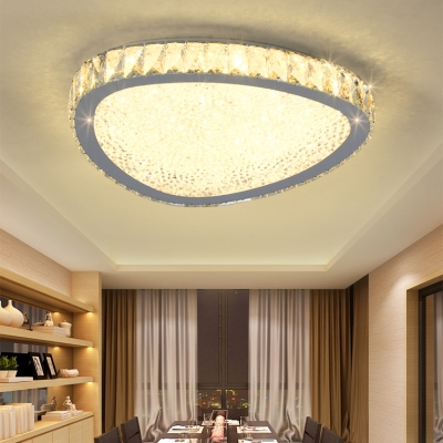 Modern Fashion Triangle Ceiling Lamp Modern Fashion Decorative Crystal LED Flush Light Fixture