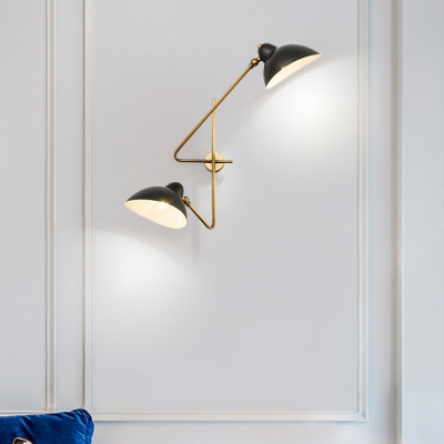 Black Duckbill Shade Sconce Light