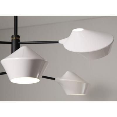 Contemporary Linear Indoor Lighting Fixture Metallic 3 Heads Hanging Chandelier in Black
