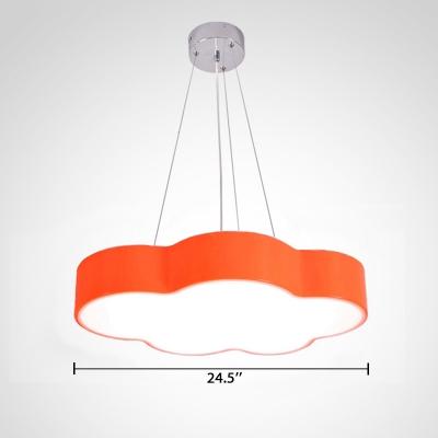 Orange/Pink Cloud Suspended Light Acrylic Decorative LED Hanging Lamp for Amusement Park