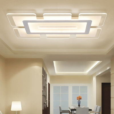 Rectangular Led Flush Light Minimalist Acrylic Ultrathin
