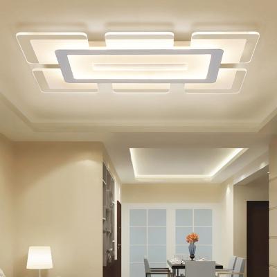 finest selection 69725 8e21a Rectangular LED Flush Light Minimalist Acrylic Ultrathin Ceiling Lamp