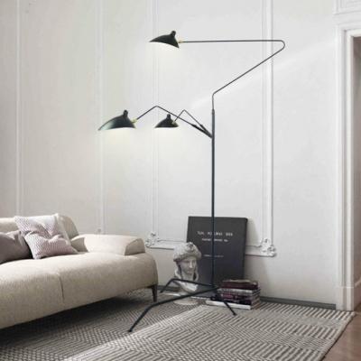 Light Post Modern Rotatable Metal Floor