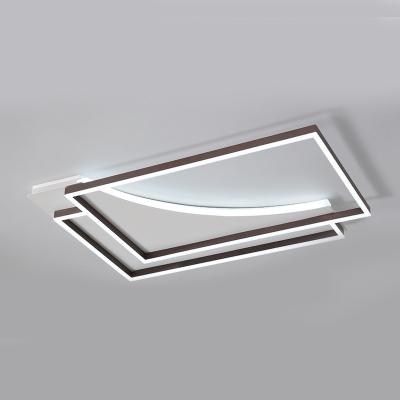 Acrylic Lampshade Geometric Flush Light Modern Chic LED Flush Mount Light in Warm/White