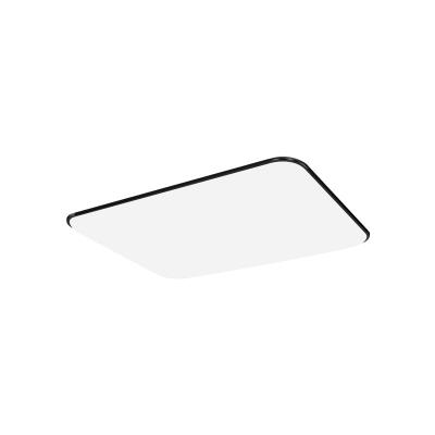 Black Ultra Thin Rectangle Flushmount Modernism Acrylic LED Ceiling Lamp for Corridor