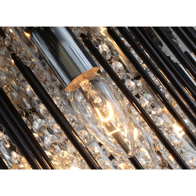 Crystal Flush Light Fixture Contemporary Metallic Decorative LED Ceiling Flush Mount in Third Gear
