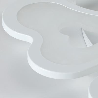 Metal Loving Heart Semi Flush Mount Modern Design 4/6 Lights LED Ceiling Lamp in Warm/White/Neutral