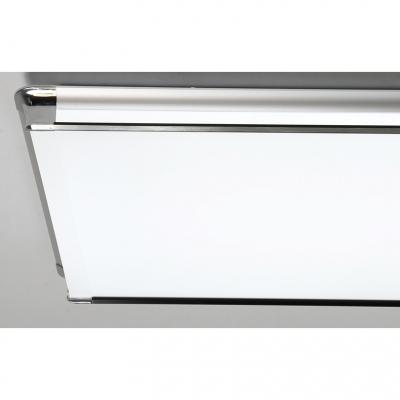 Metal Rectangle Ceiling Lamp Modern Design LED Flush Light Fixture in Silver for Corridor