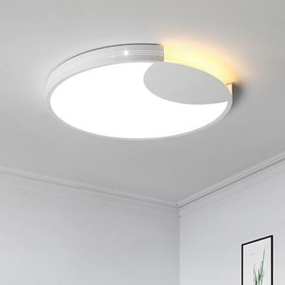 White Crescent Lighting Fixture Modern Fashion Metal Decorative Led