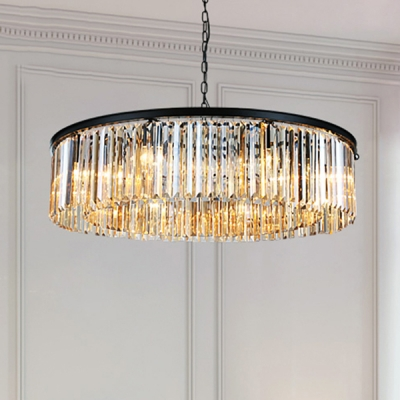 Suspended Light With Clear Crystal