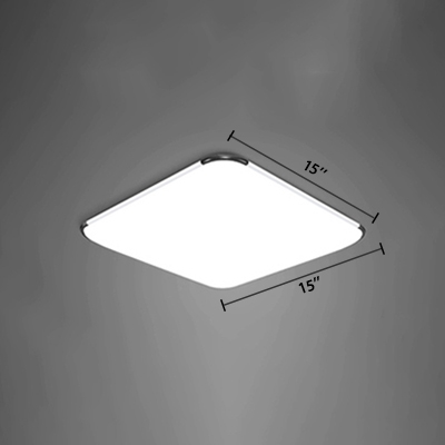 Acrylic Square LED Flush Mount Simplicity Ultra Thin Ceiling Light in Warm/White for Bedroom