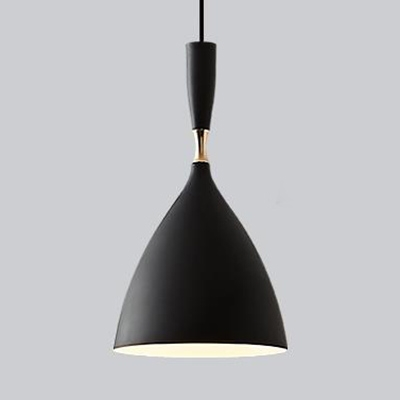 Colorful Tapered Pendant Light Metal Single Light Modern Ceiling Hanging Lights for Children Room