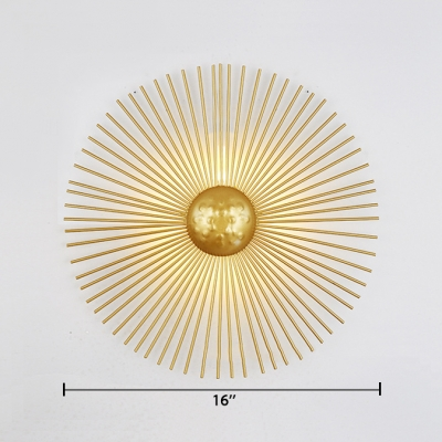 Metal Sputnik Shape Wall Mount Light Contemporary Hammered LED Wall Lamp in Gold for Living Room