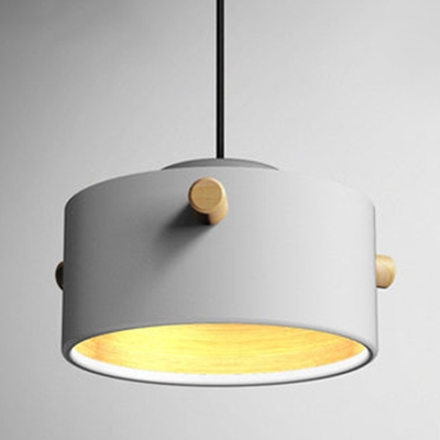 Aluminum Drum Hanging Lamp Nordic Style Single Light Pendant Lighting for Sitting Room