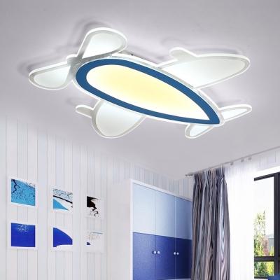 Boys Bedroom Prop Plane Flush Light Nordic Style Decorative Acrylic